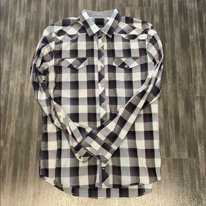 7 Diamonds Men's Long-Sleeve Button-Up Shirt